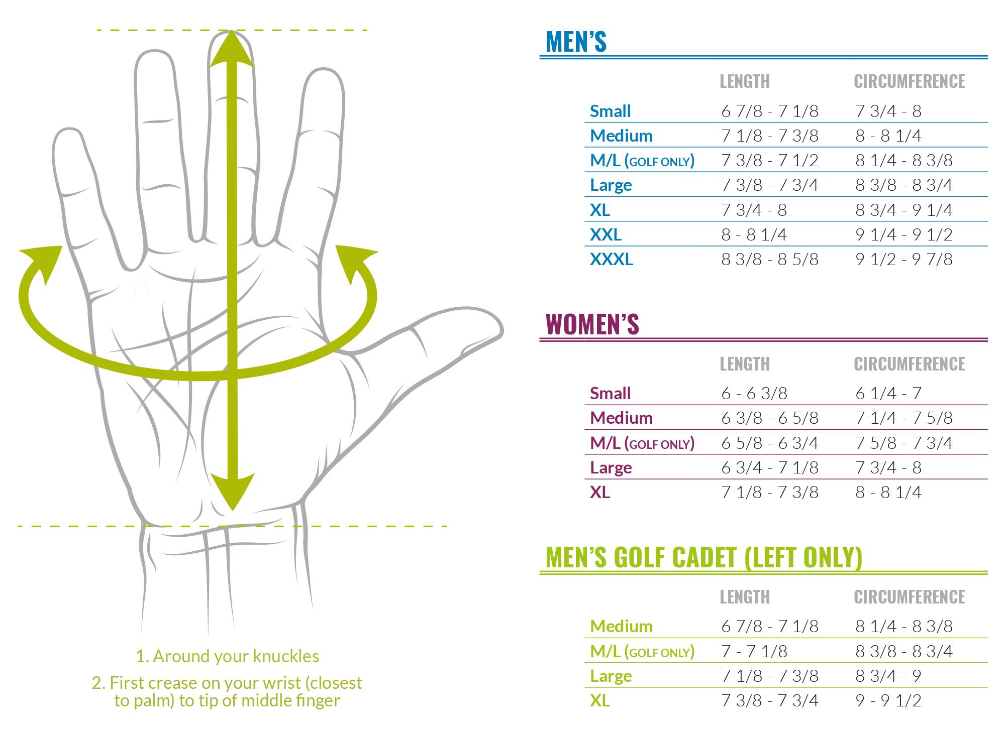 Bionic Gloves Sizing Guide